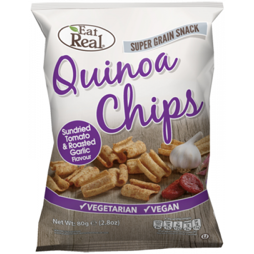 Eat Real Quinoa Chips Tomaat & Knoflook (T.H.T. 06-10-19)