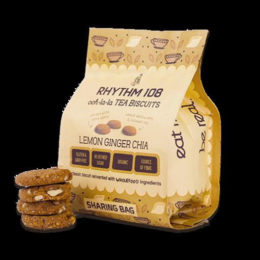 Rhythm 108 Lemon Ginger Chia Biscuits