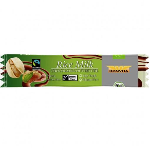 Bonvita Rijstmelk Chocoladereep Met Pistache