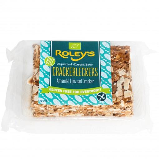 Roley's Crackers Amandel Lijnzaad (T.H.T. 31-01-19)