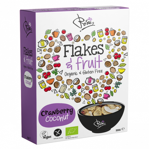 Rosies Flakes & Fruit Cranberry Coconut Biologisch