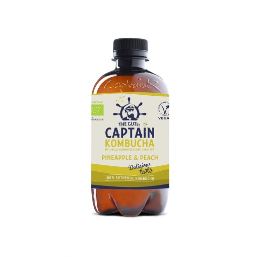 Captain Kombucha Kombucha Pineapple & Peach