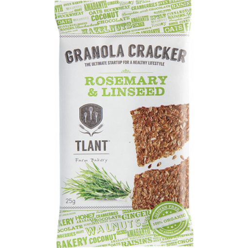 TLANT Granola Cracker Rosemary & Linseed