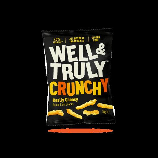 Well & Truly Corn Snacks Crunchy Really Cheesy 30 Gram