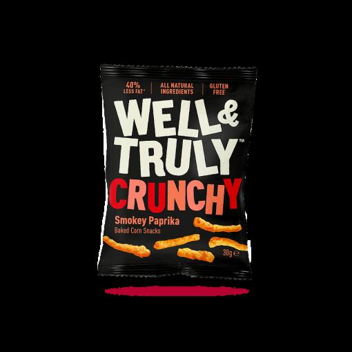 Well & Truly Corn Snacks Crunchy Smokey Paprika 30 gram