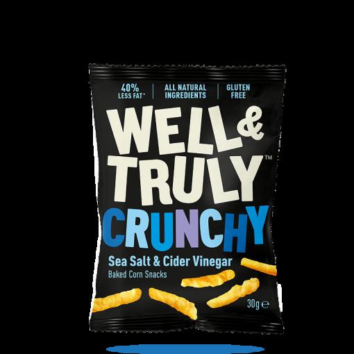 Well & Truly Corn Snacks Crunchy Sea Salt & Cider Vinegar 30 gram