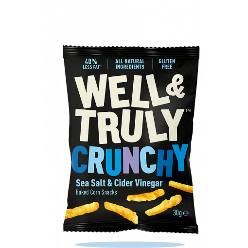 Well & Truly Corn Snacks Crunchy Sea Salt & Cider Vinegar 100 gram