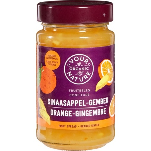 Your Organic Nature Sinaasappel - Gember Fruitbeleg