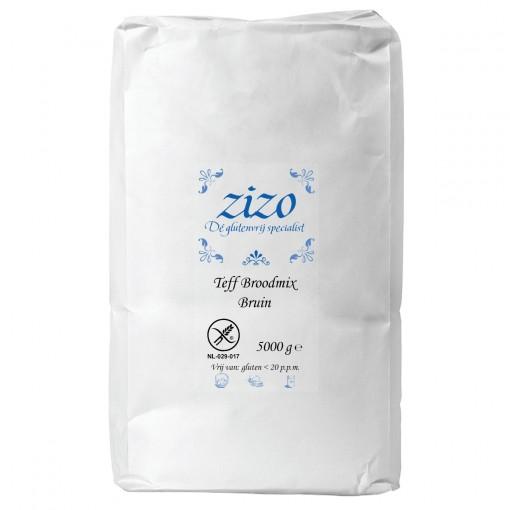 Zizo Teff Broodmix Bruin 5 kilo (T.H.T. 15-08-2020)