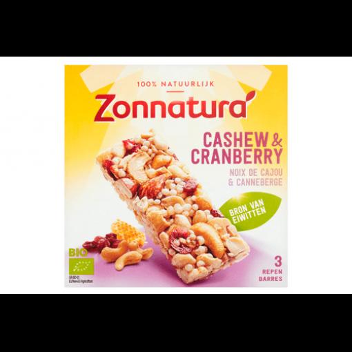 Zonnatura Cashew & Cranberry Repen 3-Pack