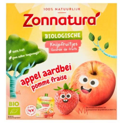 Zonnatura Knijpfruit Appel Aardbei Kikker