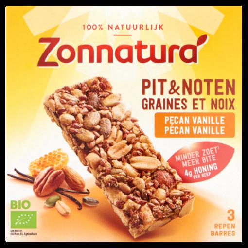 Zonnatura Pit & Noten Pecan Vanille Repen 3-Pack
