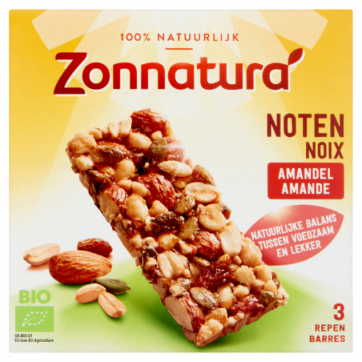Zonnatura Noten Amandel Repen 3-Pack