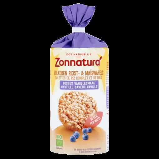 Zonnatura Rijst & Maiswafels Bosbes Vanillesmaak