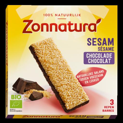Zonnatura Sesam Chocolade Repen 3-pack