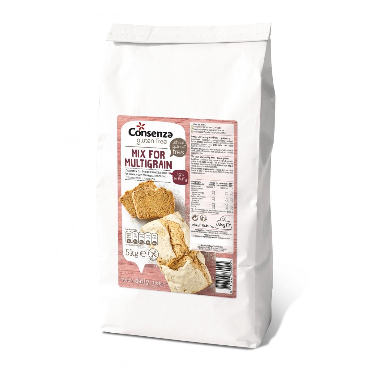 Broodmix Meergranen 5 kilo