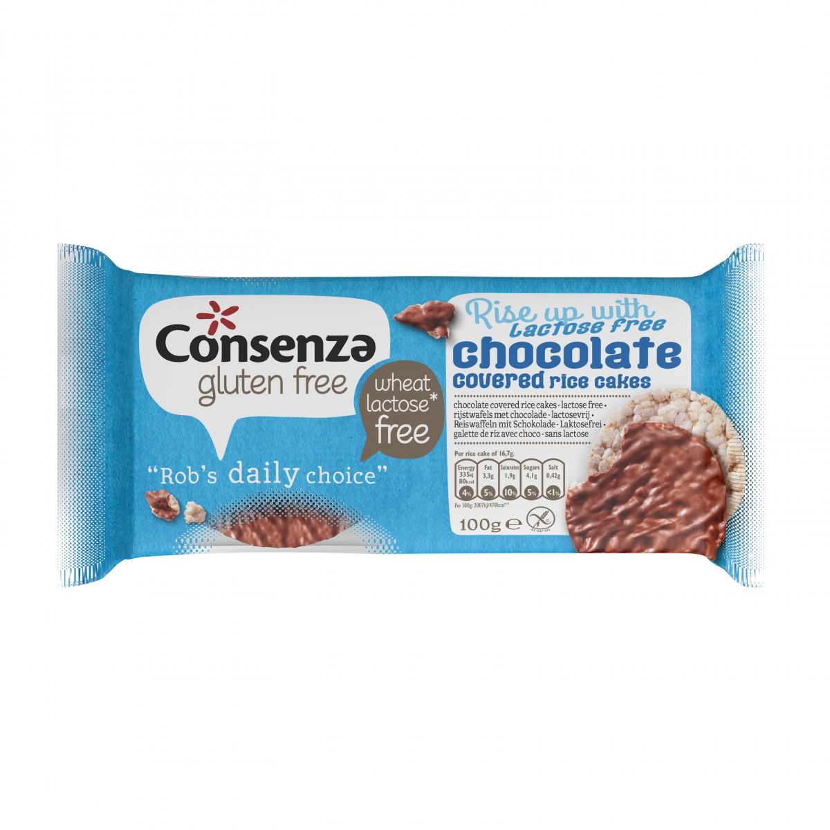 Rijstwafels Met Lactosevrije Chocolade