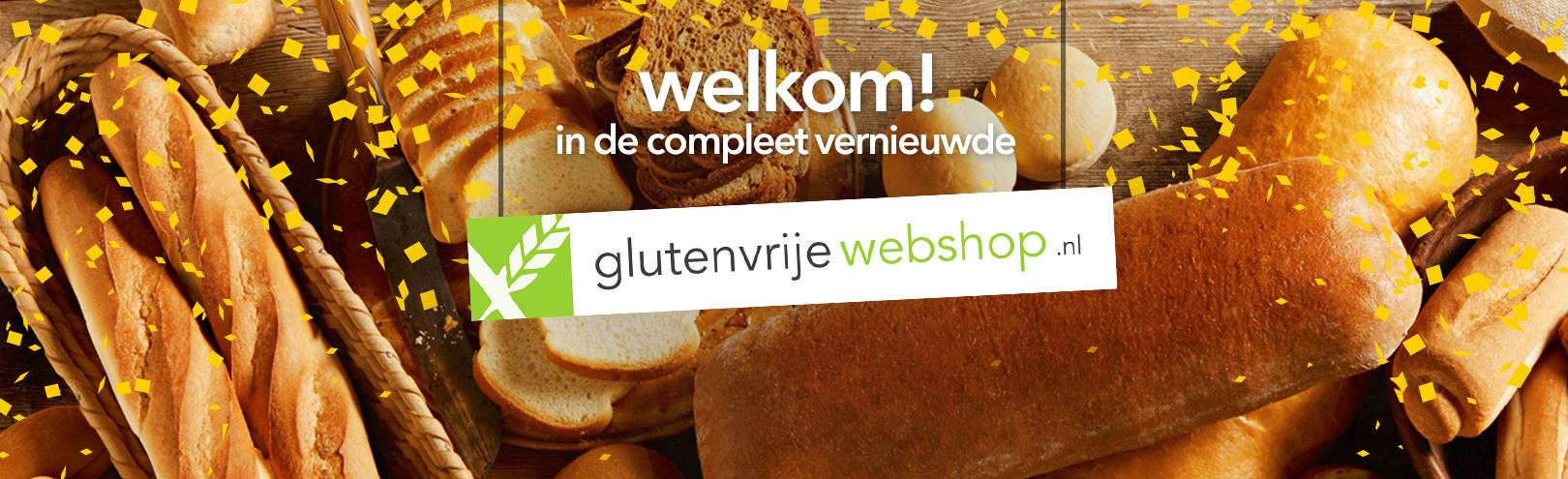 Welkom in de compleet vernieuwde Glutenvrije Webshop