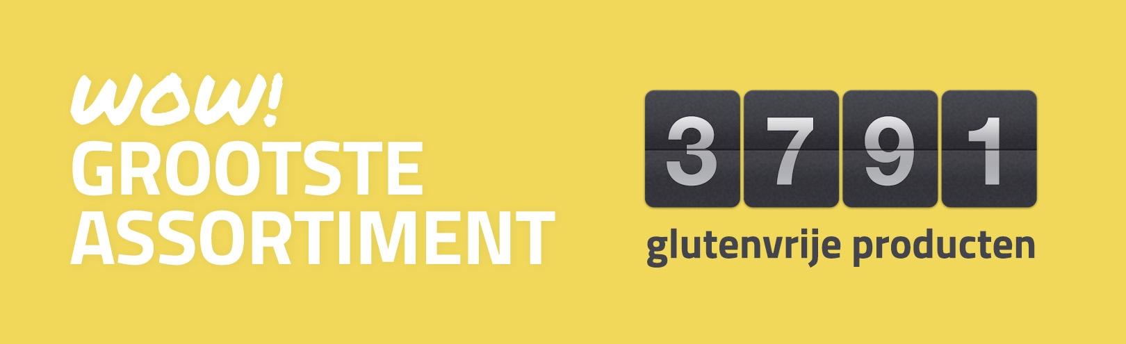 Het grootste glutenvrije assortiment